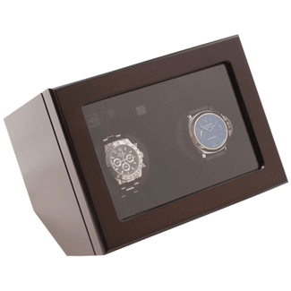 Heiden Dual Watch Winder Brown