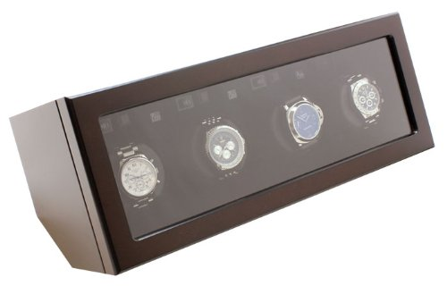 Heiden Quad Watch Winder - Brown