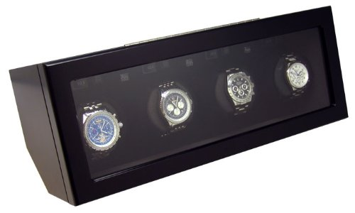 Heiden Quad Watch Winder Black